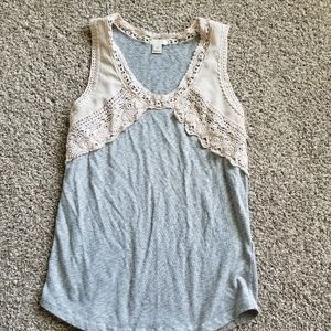 Grey and peach tank top